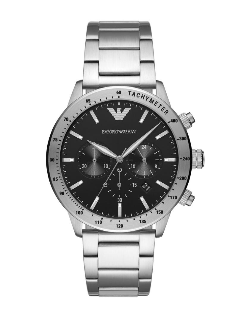 EMPORIO ARMANI EMPORIO ARMANI/(M)MARIO_AR11241 ウォッチステーションインターナショナル ファッショングッズ 腕時計 ブラック【送料無料】