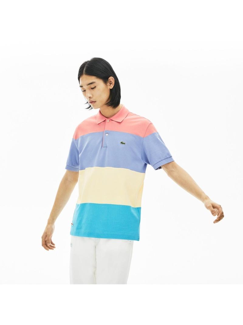 【SALE/30%OFF】LACOSTE クラシックフィットマルチカラーブロックデザインポロシャツ(半袖) ラコステ カットソー ポロシャツ【RBA_E】【送料無料】