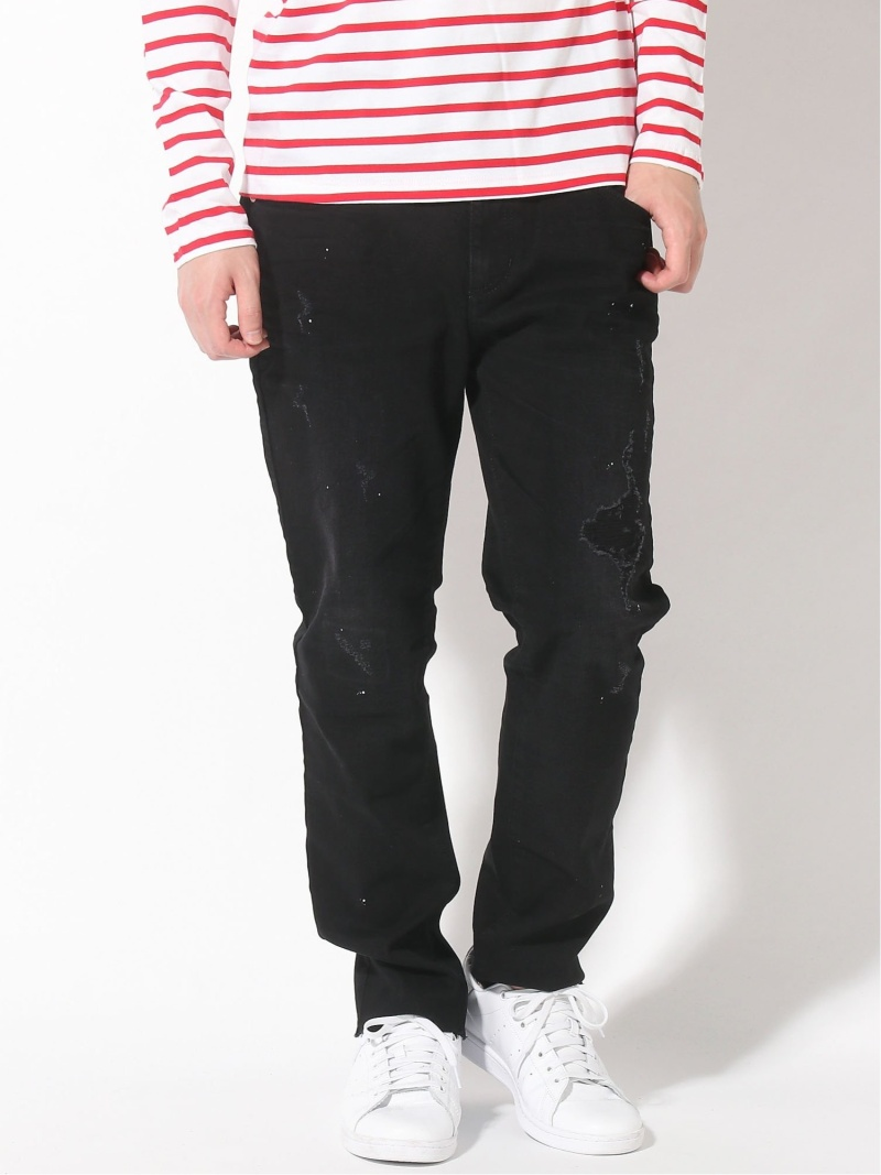 GUESS (M)Denim Pants ゲス パンツ/ジーンズ スキニージーンズ ブラック【送料無料】