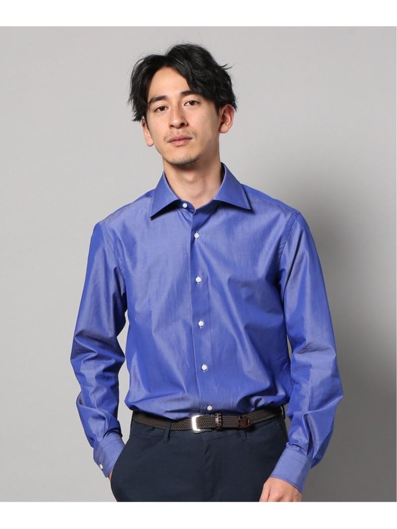EDIFICE セミワイド T.MASON ネイビーブルー エディフィス シャツ/ブラウス 長袖シャツ ネイビー【送料無料】