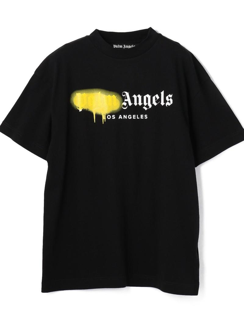 LHP PalmAngels/パームエンジェルス/LASPRAYEDLOGOTEE エルエイチピー カットソー Tシャツ ブラック【送料無料】