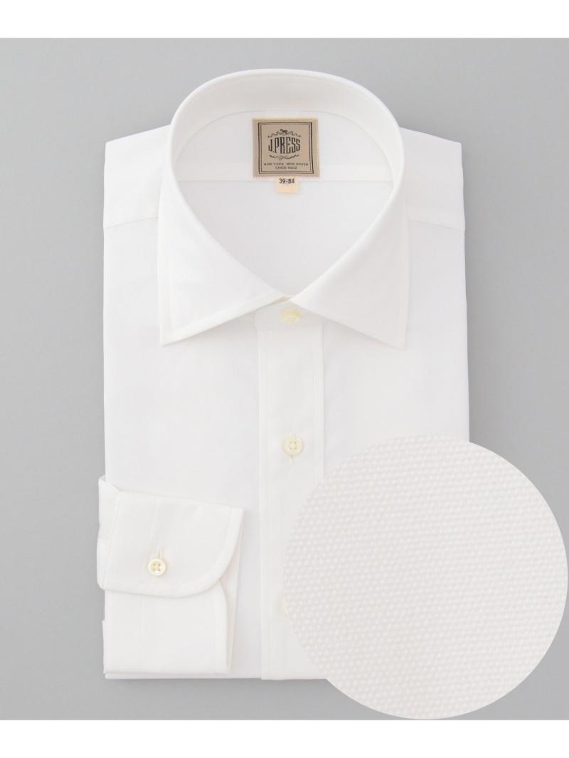 J.PRESS MEN ブロード ワイドカラーシャツ ジェイプレス シャツ/ブラウス【送料無料】