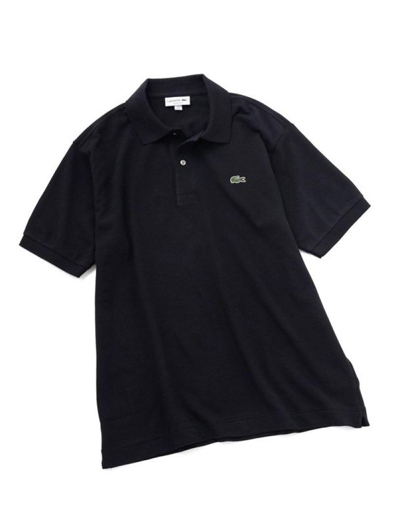 LACOSTE 2PLYREGULARPIQUEポロシャツ ナノユニバース カットソー ポロシャツ ブラック ネイビー ホワイト【送料無料】