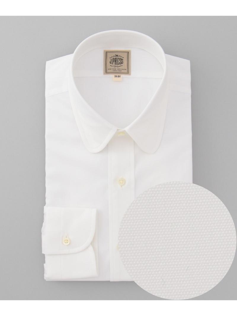 J.PRESS MEN ブロード ラウンドカラーシャツ ジェイプレス シャツ/ブラウス【送料無料】