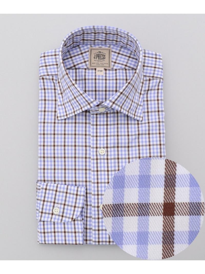 【SALE/30%OFF】J.PRESS 【SingleNeedleTailoring】ファンシーチェックツイルシャツ/ワイド ジェイプレス シャツ/ブラウス 長袖シャツ ブラウン【RBA_E】【送料無料】