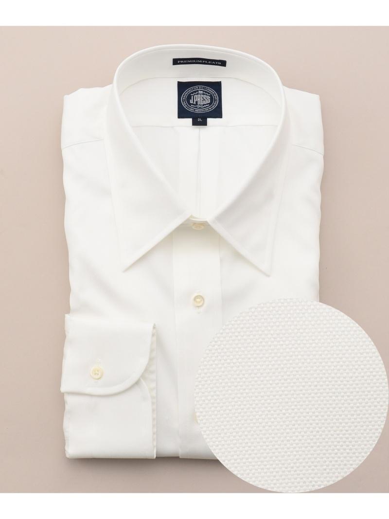 J.PRESS MEN プレミアムプリーツピンオックスチップシャツ ジェイプレス シャツ/ブラウス【送料無料】