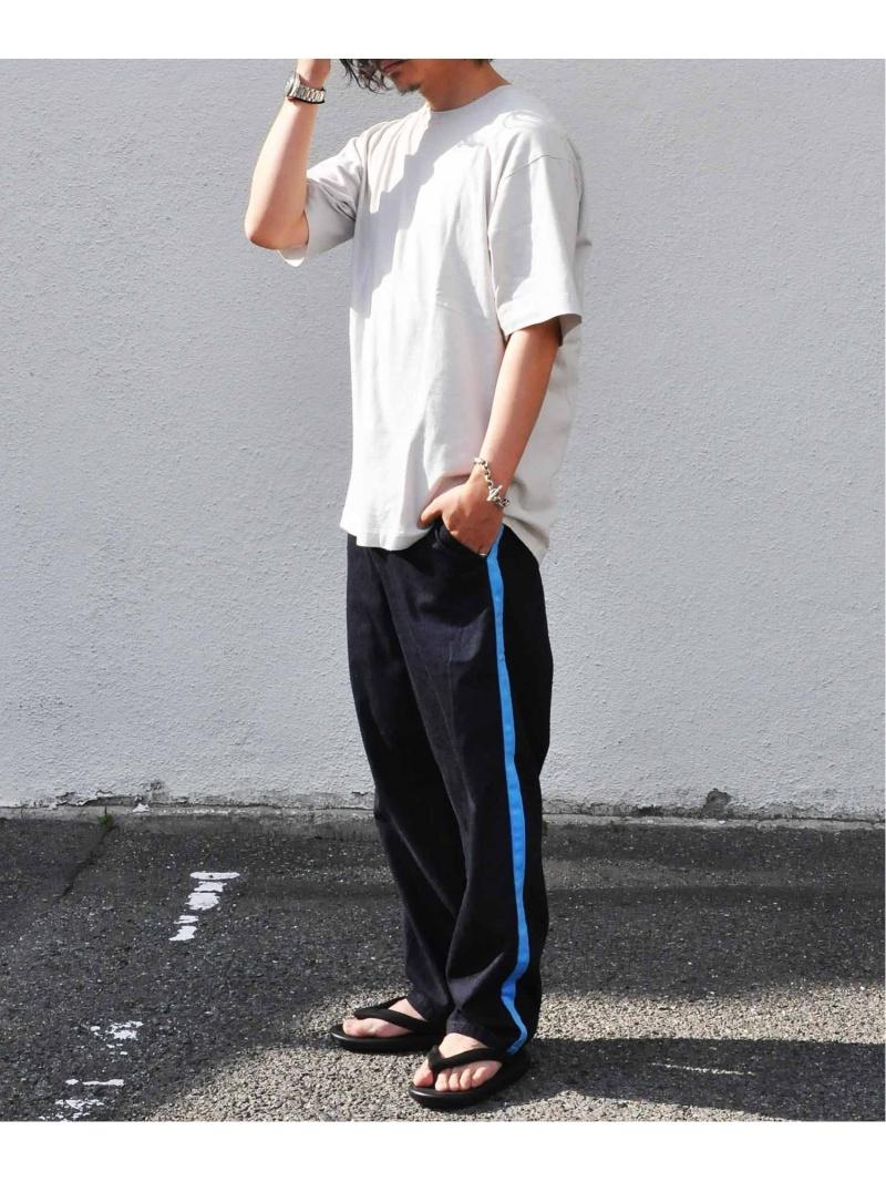 Johnbull Johnbull/(M)デニムラインイージーパンツ ジョンブルプライベートラボ パンツ/ジーンズ ワイド/バギーパンツ ブルー【送料無料】