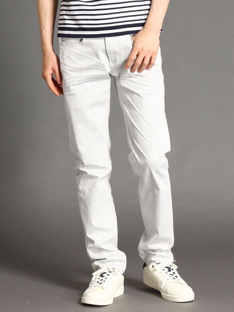 NICOLE CLUB FOR MEN カラースリムパンツ ニコル パンツ/ジーンズ パンツその他 ホワイト ベージュ ブラック ブルー【送料無料】