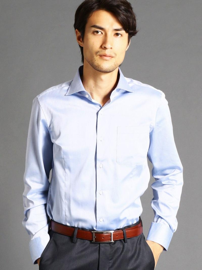 MONSIEUR NICOLE セミワイドカラードレスシャツ ニコル シャツ/ブラウス【送料無料】