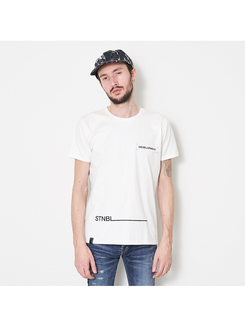 5351POUR LES HOMMES 【20SS】サスティナブル・タイポTシャツ【予約】 ゴーサンゴーイチプールオム カットソー Tシャツ ホワイト ブラック【先行予約】*【送料無料】