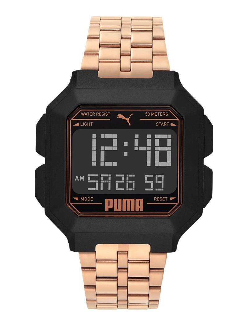 PUMA PUMA/(U)REMIX_P5035 ウォッチステーションインターナショナル ファッショングッズ 腕時計 ブラック【送料無料】