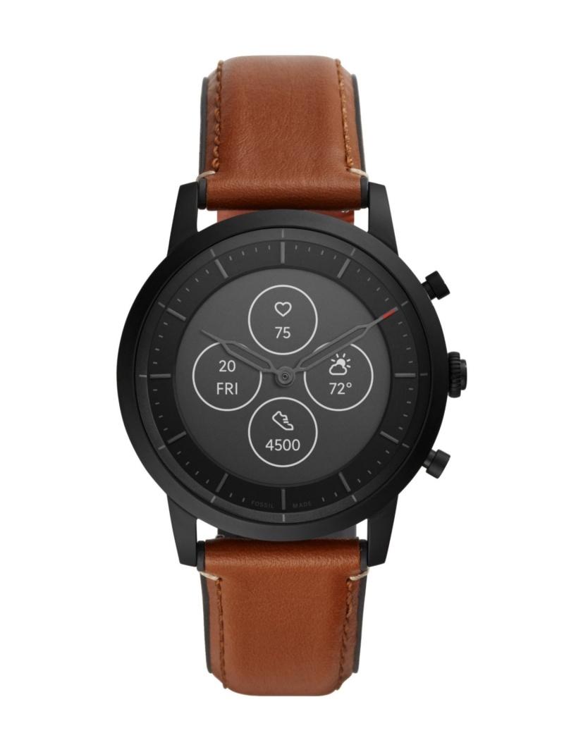 <title>激安通販 FOSSIL ユニセックス ファッショングッズ フォッシル Q COLLIDER HYBRID SMARTWATCH HR 腕時計 ブラウン 送料無料</title>