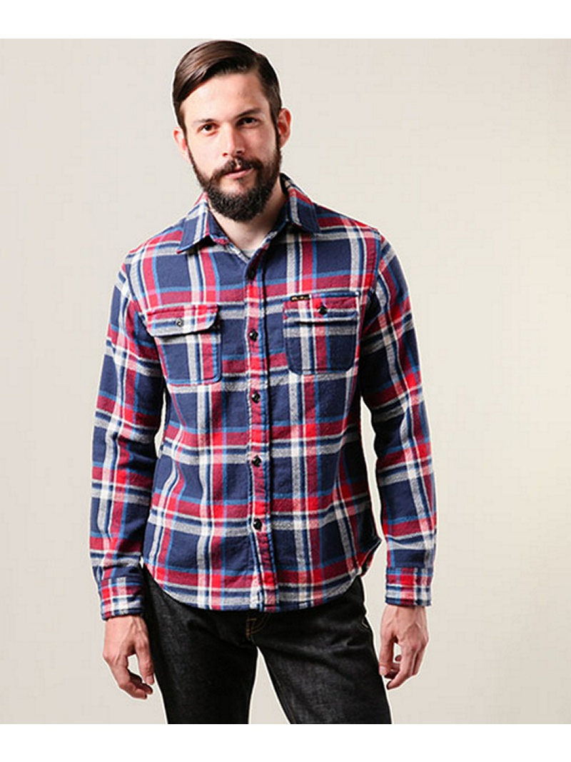 【SALE/20%OFF】MR.OLIVE HEAVY NEL CHECK / COWBOY WORK SHIRT ミスターオリーブ シャツ/ブラウス【RBA_S】【RBA_E】【送料無料】