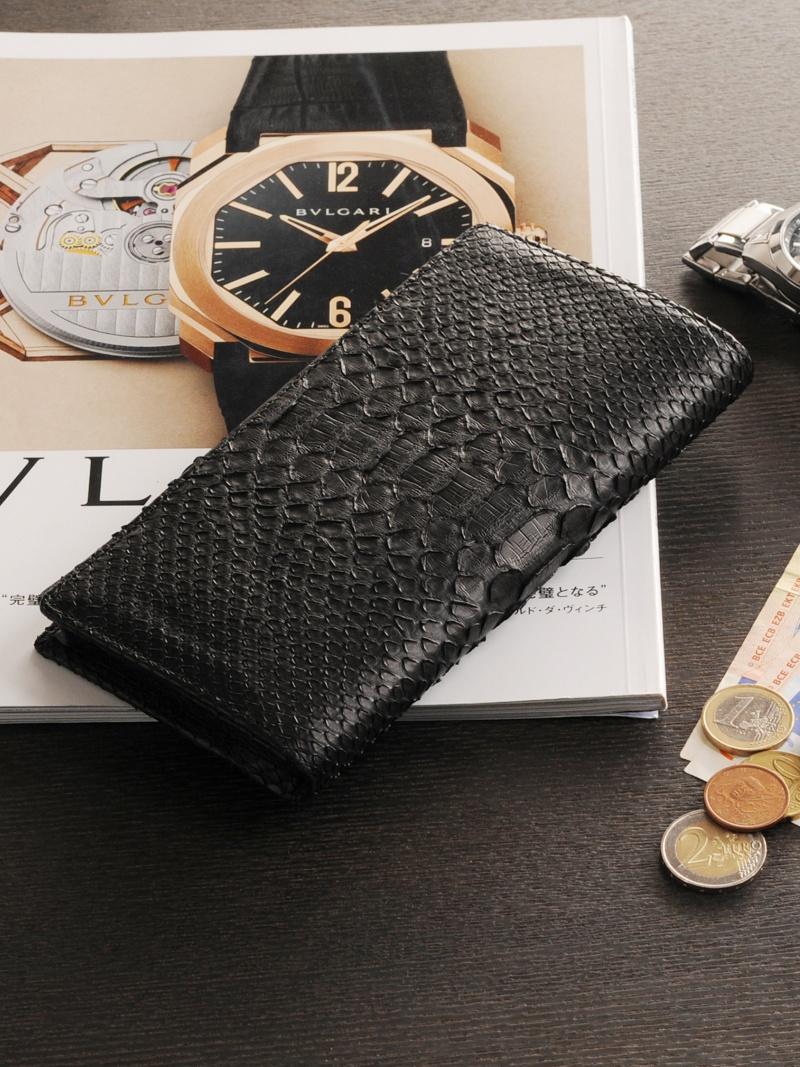 [HALEINE]長財布ダイヤモンドパイソンレザー一枚革二つ折り アレンヌ 財布/小物【送料無料】