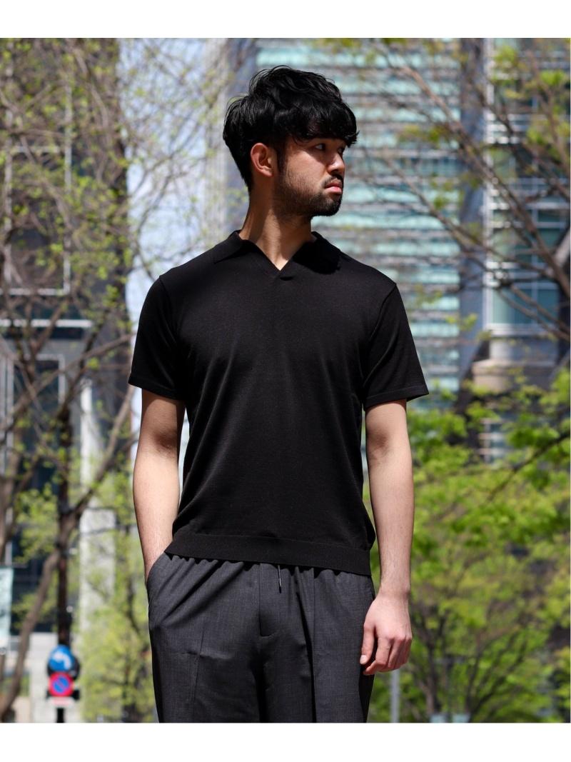 EDIFICE SI/C スキッパー ポロ エディフィス カットソー ポロシャツ ブラック グレー ブラウン【送料無料】