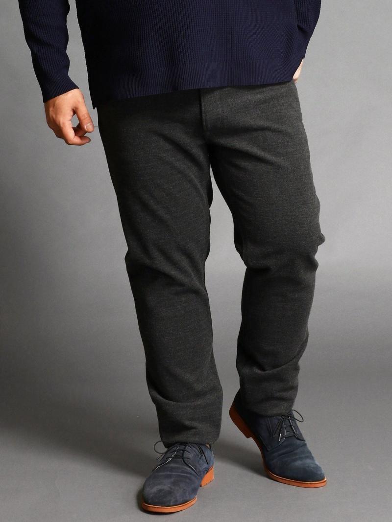 HIDEAWAYS(大きいサイズ) <大きいサイズ>起毛テーパードパンツ ニコル パンツ/ジーンズ パンツその他 グレー ブラック【送料無料】