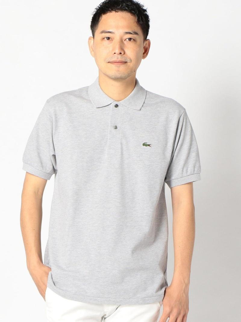 SHIPS LACOSTE:【L1264AL】ヘザーポロシャツ シップス シャツ/ブラウス ワイシャツ グレー ネイビー【送料無料】