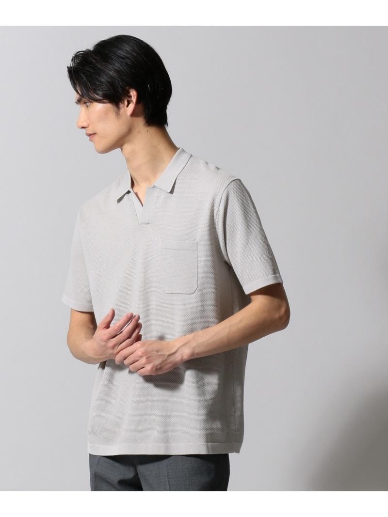 gotairiku ジオメトリックパターンスキッパ ポロシャツ ゴタイリク カットソー【送料無料】