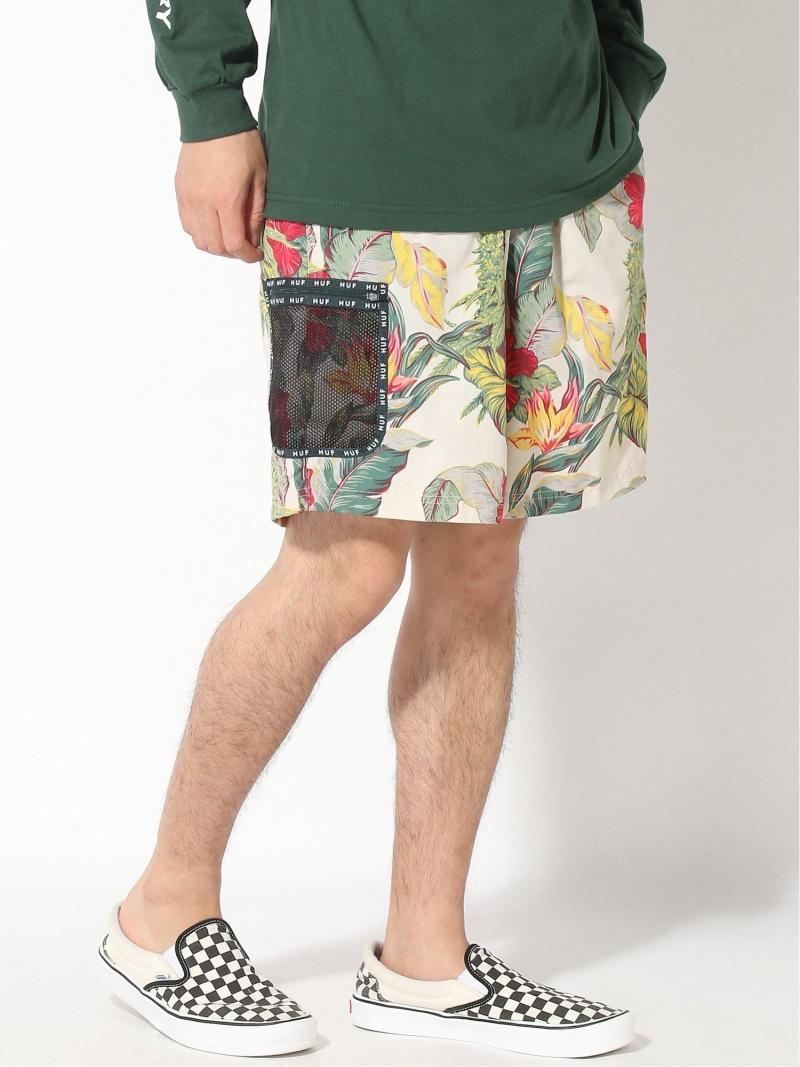 【SALE/20%OFF】HUF (M)PARAISO TECH SHORT ハフ パンツ ショーツ ハフ パンツ/ジーンズ ショートパンツ ベージュ ネイビー【RBA_E】【送料無料】