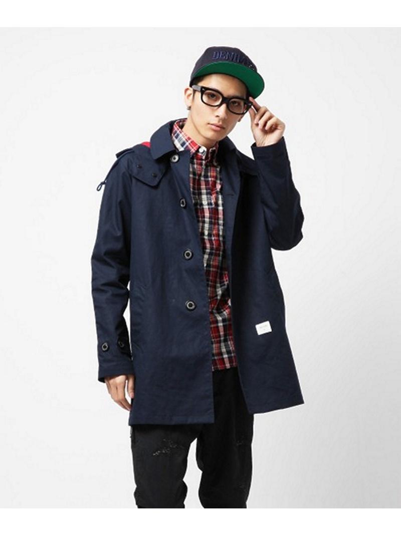 【SALE/75%OFF】DENIM BY VANQUISH & FRAGMENT Bal Collar Coat デニムバイヴァンキッシュアンドフラグメント コート/ジャケット【RBA_S】【RBA_E】【】: Fashion Men