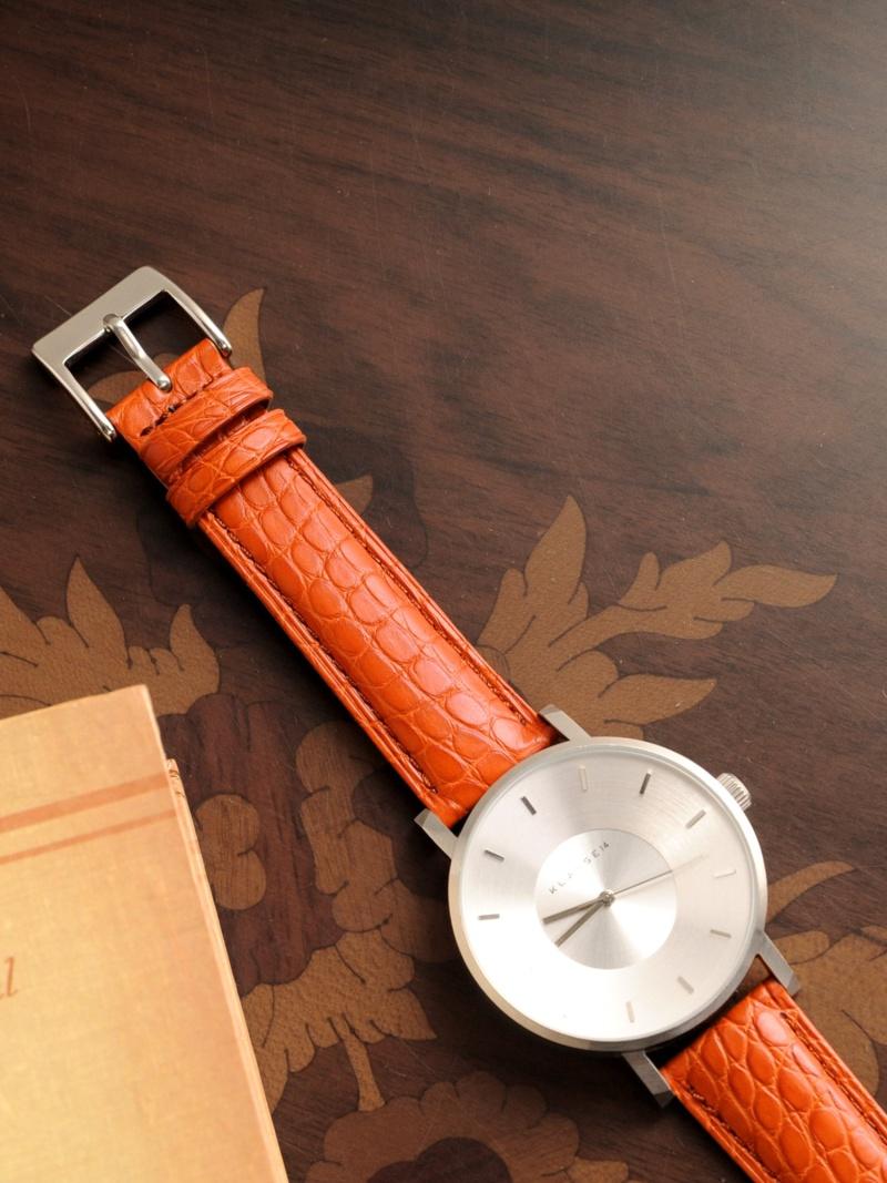 sankyoshokai 腕時計付け替え用ベルト本革アリゲーター19mm サンキョウショウカイ ファッショングッズ 腕時計 オレンジ ブラック ブラウン【送料無料】