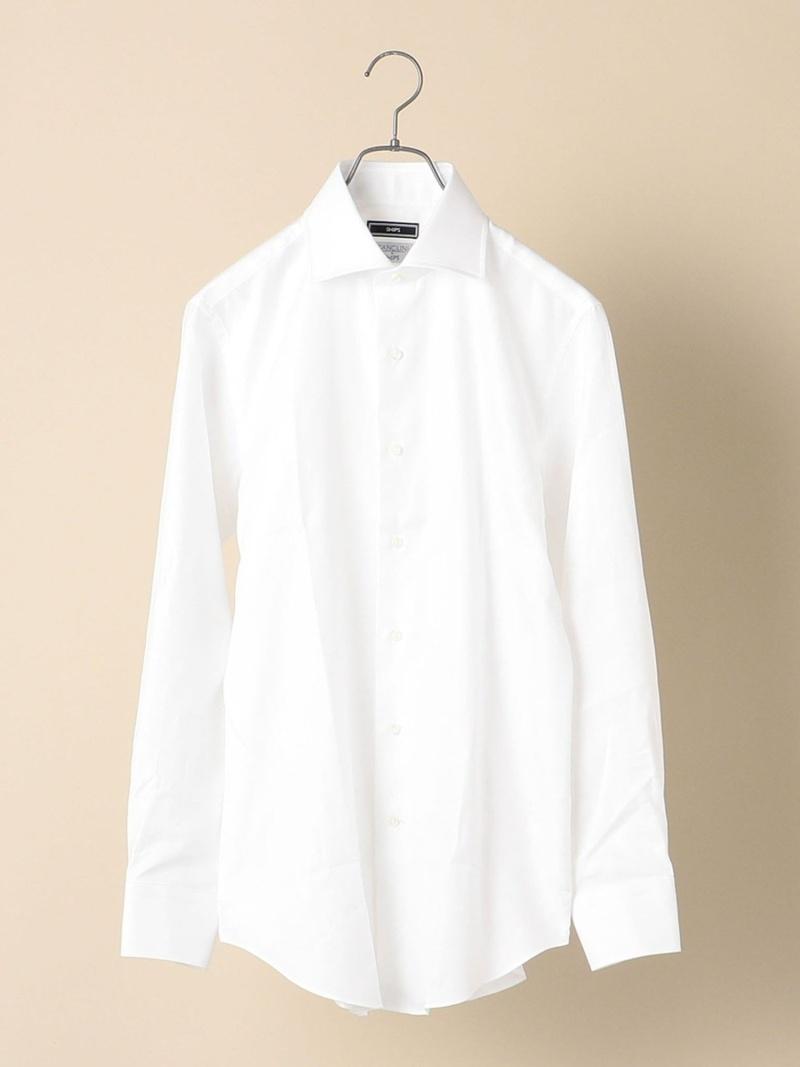 SHIPS SD: CANCLINI社製生地 ワイド マイクロ へリン ソリッド シャツ シップス シャツ/ブラウス 長袖シャツ ホワイト【送料無料】