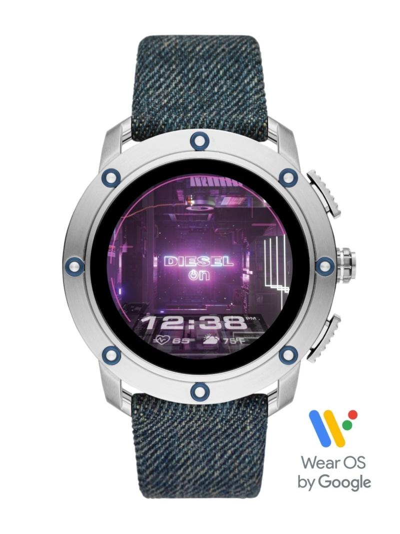 DIESEL ON 【タッチスクリーンスマートウォッチ】AXIAL ウォッチステーションインターナショナル ファッショングッズ 腕時計 ブルー【送料無料】