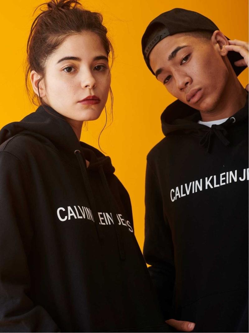 Calvin Klein JEANS Jeans Calvin CALVIN KLEIN JEANS ロゴ スウェット パーカー スウェット カルバン・クライン カットソー【送料無料】, 名前シールのねむっこ:d30e37cc --- officewill.xsrv.jp