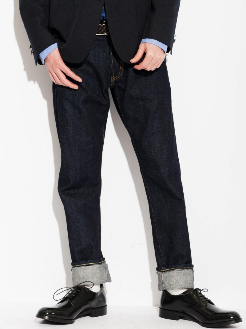 UNITED ARROWS green label relaxing SELVAGE 825TAPER粗斜纹布UNITED ARROWS绿色标签放松粗斜纹布