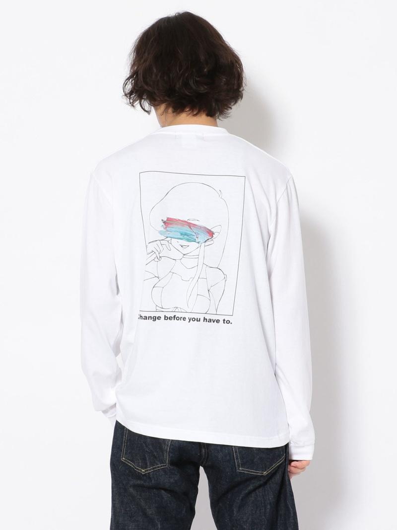 ROYAL FLASH guernika×MONOPHOBIA/ゲルニカ×モノフォビア /Print LS TEE ロイヤルフラッシュ カットソー Tシャツ ホワイト【送料無料】