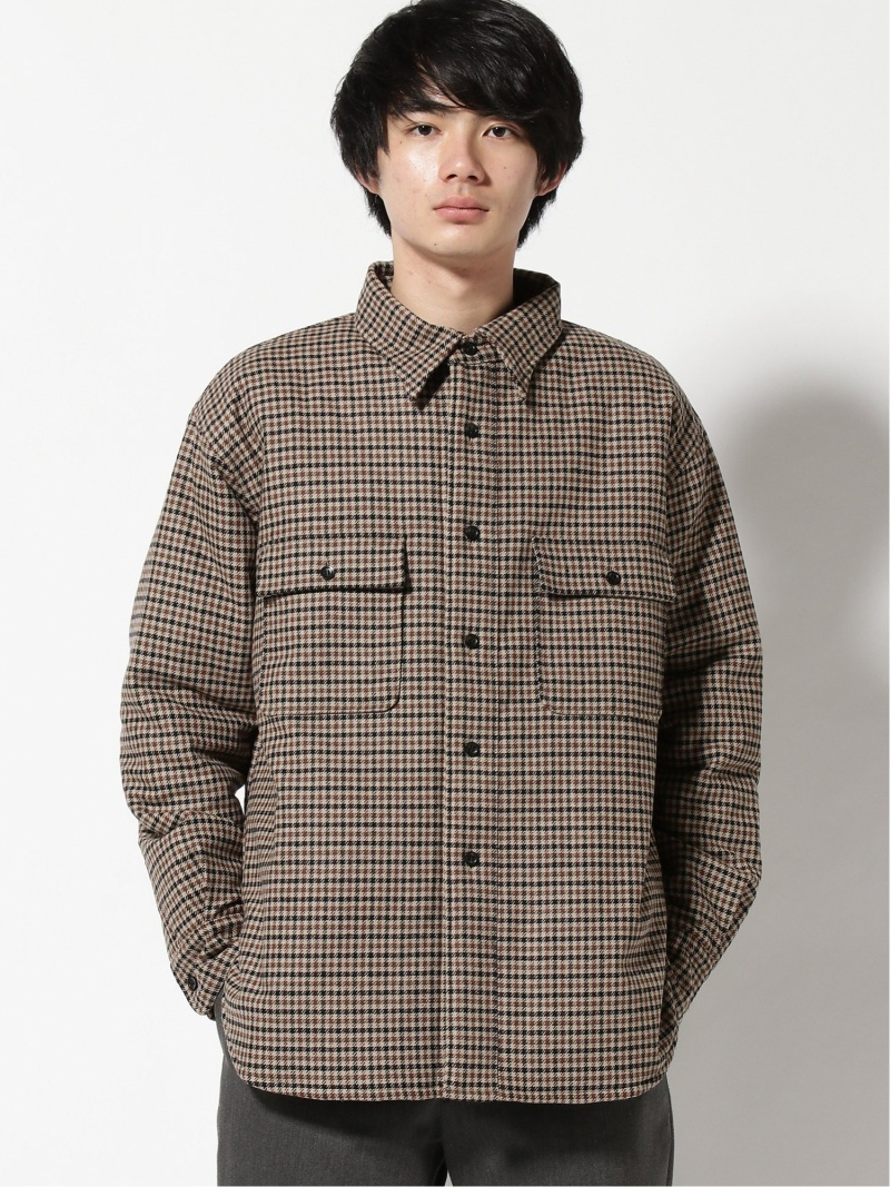 PORT BY ARK PORT BY ARK/(M)Shirts jacket CPO アークネッツ コート/ジャケット ブルゾン ベージュ【送料無料】