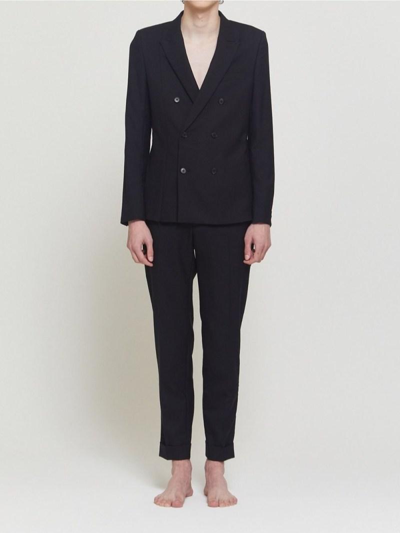 DRESSEDUNDRESSED Distorted Blazer シーナウトウキョウ コート/ジャケット テーラードジャケット ブラック【先行予約】*【送料無料】