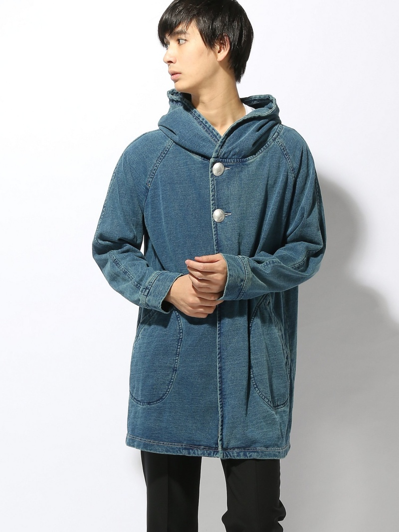 AOZORA/(M)AO インディゴフードコンチョコート ゴースローキャラバン コート/ジャケット【送料無料】