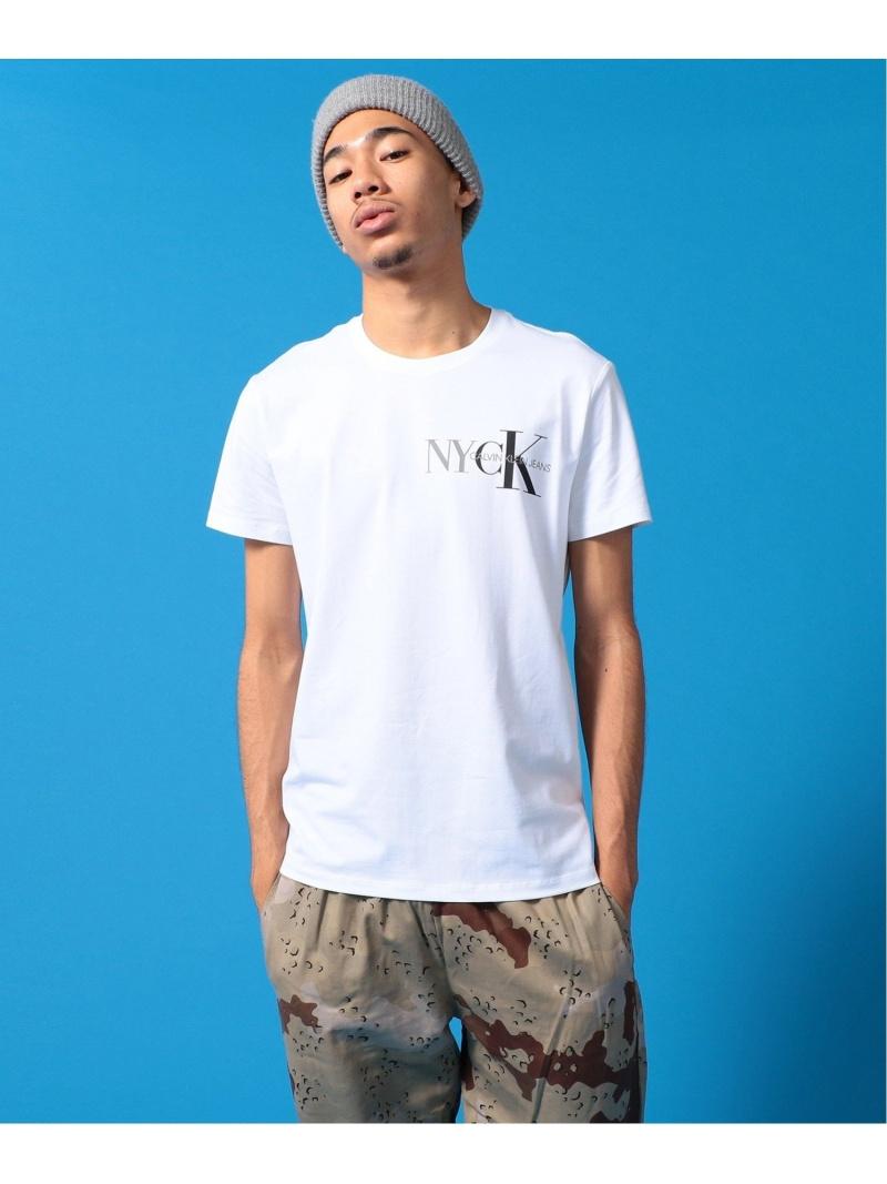 Calvin Klein Jeans CALVIN KLEIN【カルバン クライン ジーンズ】 メンズ A-NYCK TEE Tシャツ J315747 カルバン・クライン カットソー Tシャツ ホワイト ブラック【送料無料】