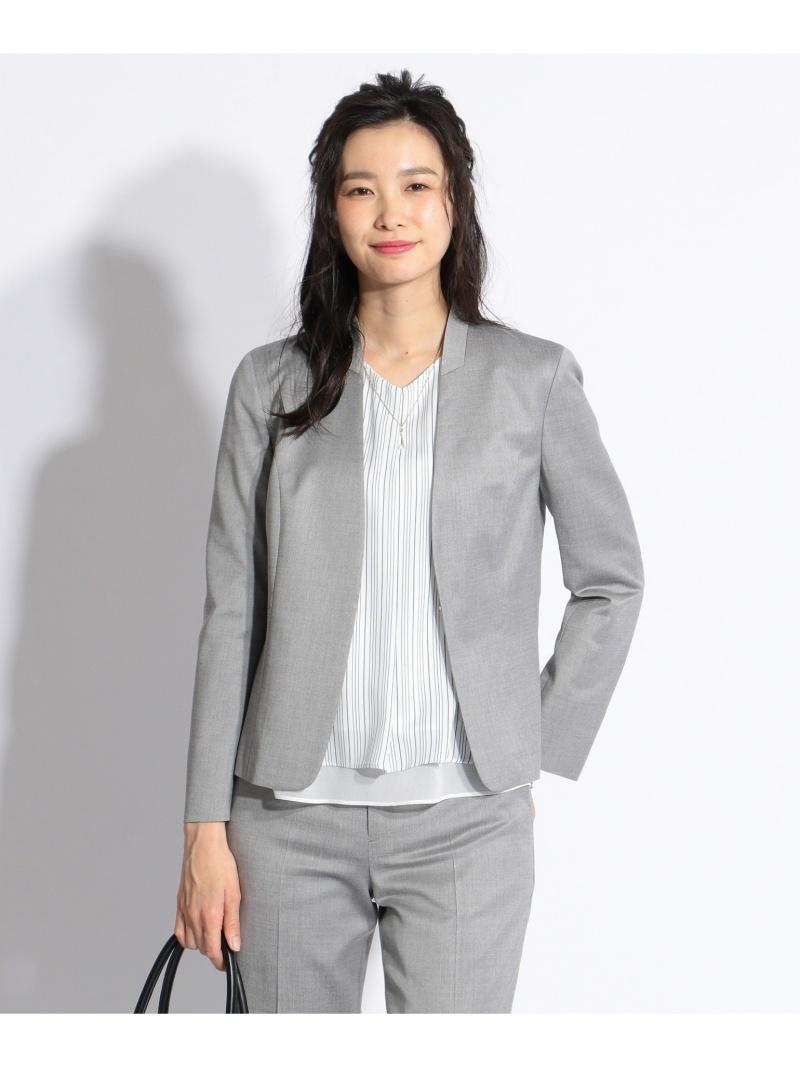 J.PRESS LADIES S YUNSA ノーカラージャケット ジェイプレス コート/ジャケット【送料無料】