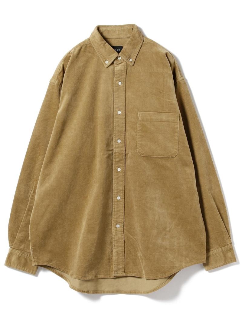 BEAMS MEN BEAMS / コーデュロイ イージー ミニボタンダウンシャツ ビームス メン コート/ジャケット【送料無料】