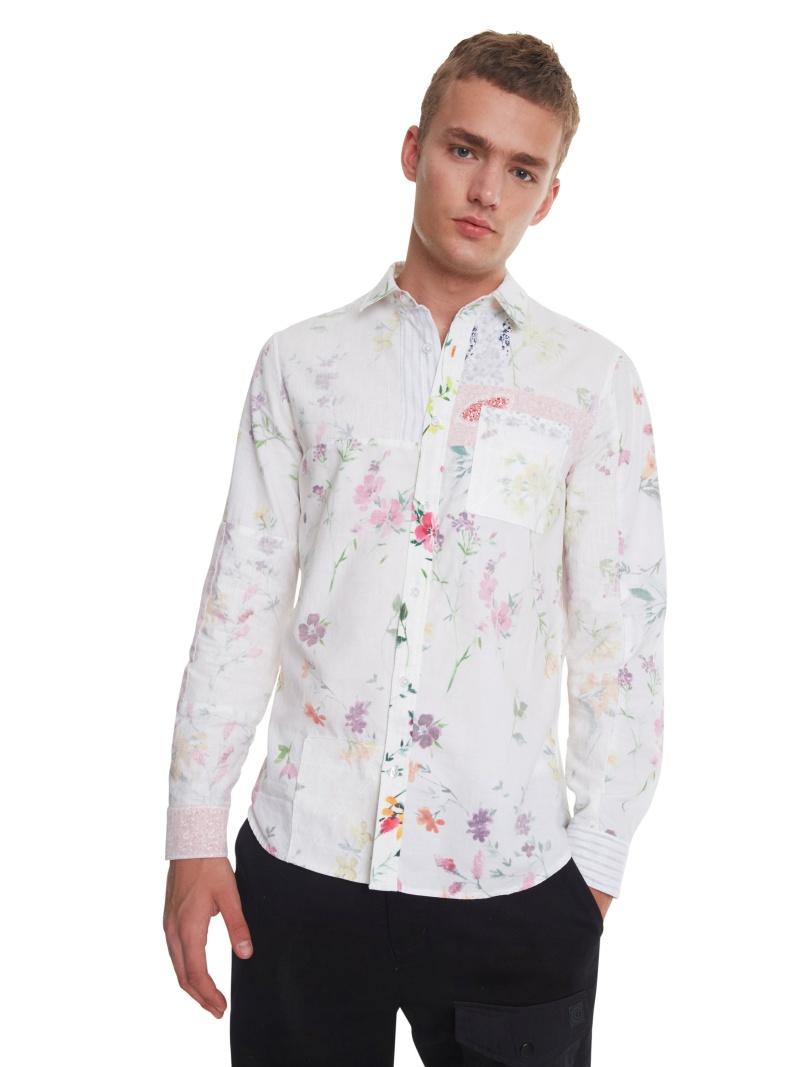 Desigual シャツ長袖 CRAIG デシグアル シャツ/ブラウス 長袖シャツ ホワイト【送料無料】