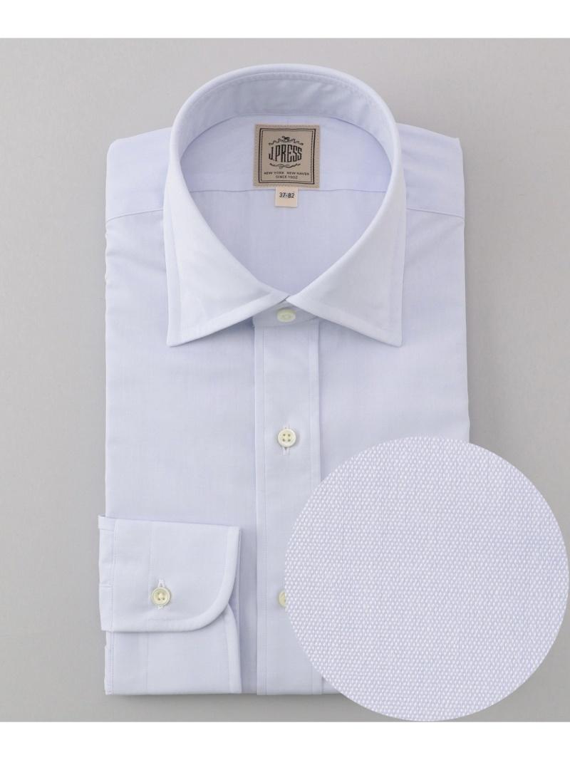 J.PRESS 【SingleNeedleTailoring】ブロードシャツ/ワイド ジェイプレス シャツ/ブラウス ワイシャツ ブルー ホワイト【送料無料】