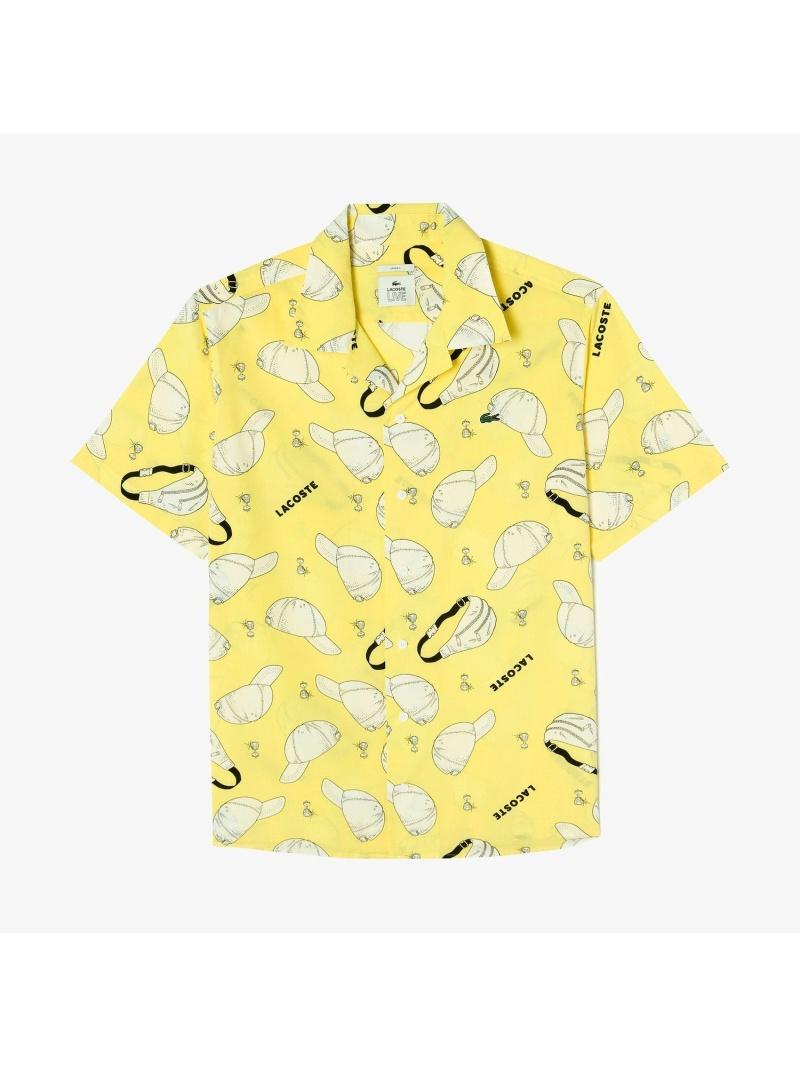 【SALE/30%OFF】LACOSTE アーバングラフィックデザインショートスリーブオープンネックシャツ ラコステ シャツ/ブラウス 長袖シャツ【RBA_E】【送料無料】
