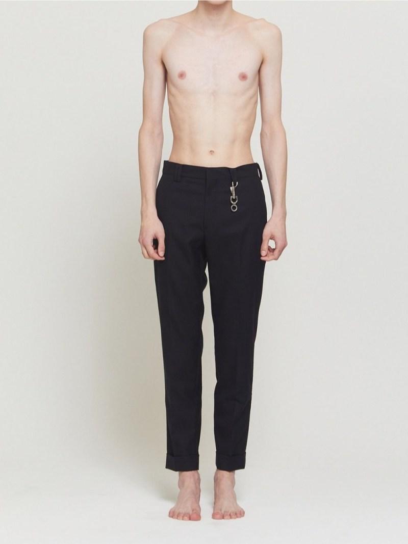 DRESSEDUNDRESSED Slim-Fit Suit Trousers シーナウトウキョウ パンツ/ジーンズ スラックス/ドレスパンツ ブラック【先行予約】*【送料無料】