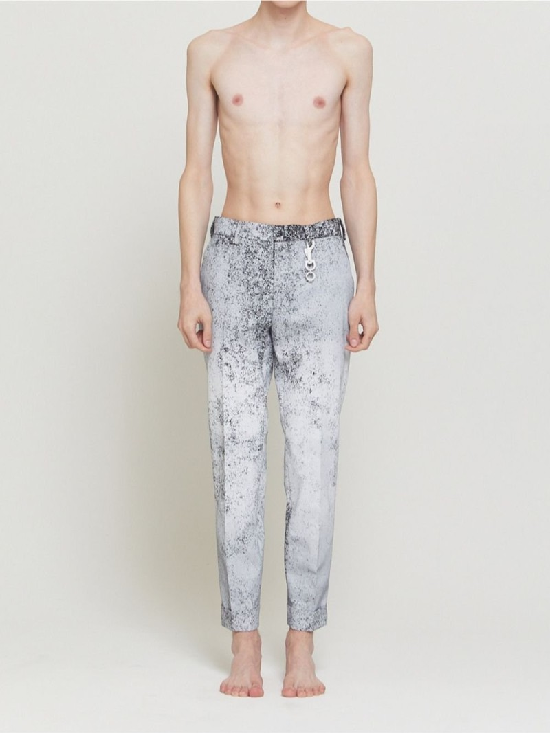 DRESSEDUNDRESSED Whiteout Slim-Fit Suit Trousers シーナウトウキョウ パンツ/ジーンズ スラックス/ドレスパンツ ブラック【先行予約】*【送料無料】