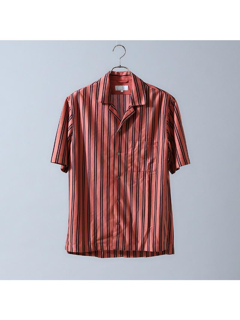 ABAHOUSE テンセルジャージーストライプオープンカラーシャツ アバハウス シャツ/ブラウス【送料無料】
