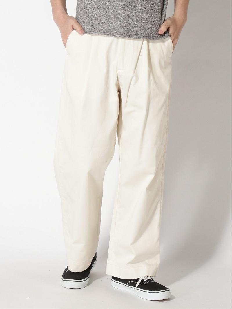 【SALE/20%OFF】417 EDIFICE (M)BIG SHIRTS 1TUCK WIDE PANTS フォーワンセブン エディフィス パンツ/ジーンズ ワイド/バギーパンツ ホワイト ネイビー ベージュ【RBA_E】【送料無料】