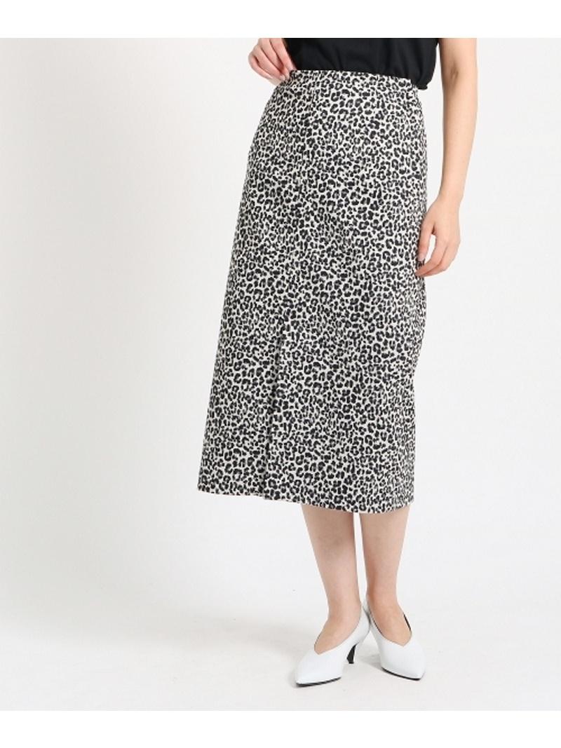 DRESSTERIOR(Ladies) レオパードジャガード ストレートロングスカート ドレステリア スカート【RBA_S】【送料無料】