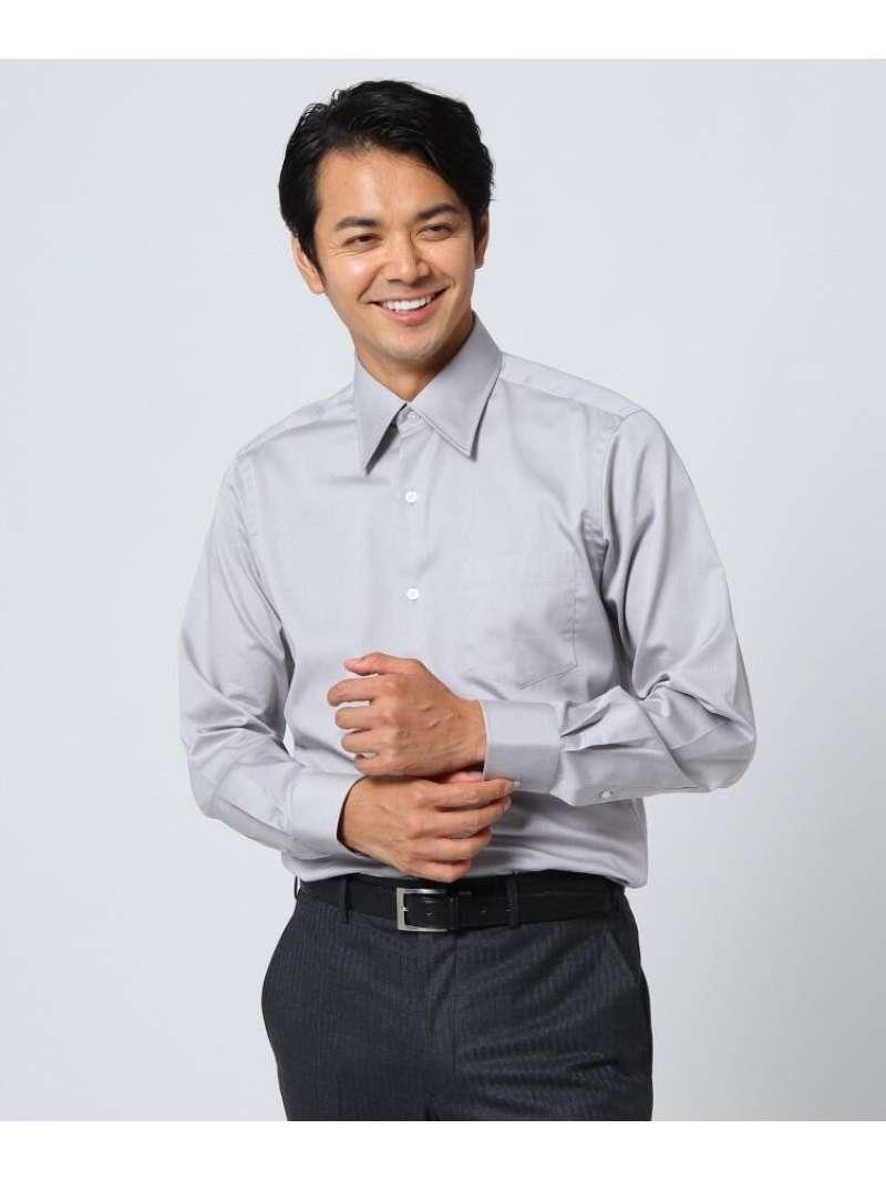 TAKEO KIKUCHI サテンシャツ タケオキクチ シャツ/ブラウス シャツ/ブラウスその他 グレー【送料無料】