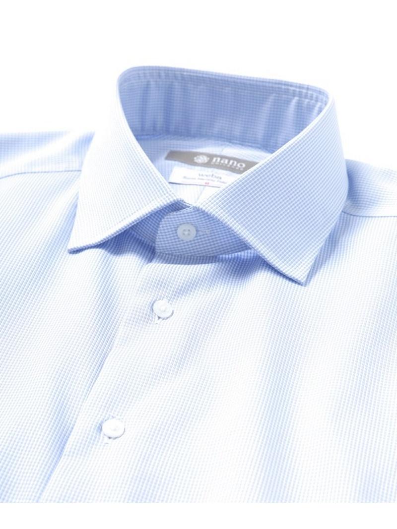 RG ギンガムチェックセミワイドシャツ ナノユニバース シャツ/ブラウス【送料無料】