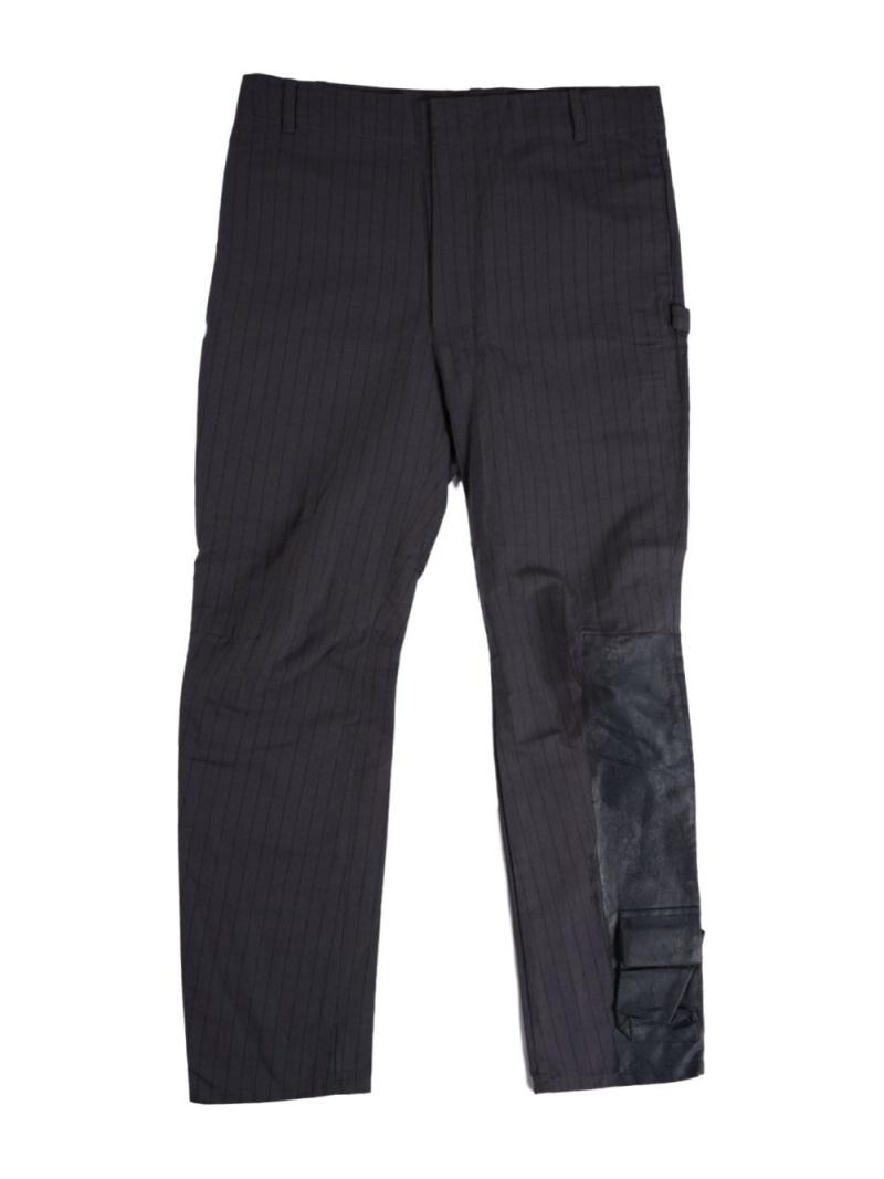 SHINYAKOZUKA TACTICAL TROUSERS linen pinstripe シーナウトウキョウ パンツ/ジーンズ フルレングス【送料無料】