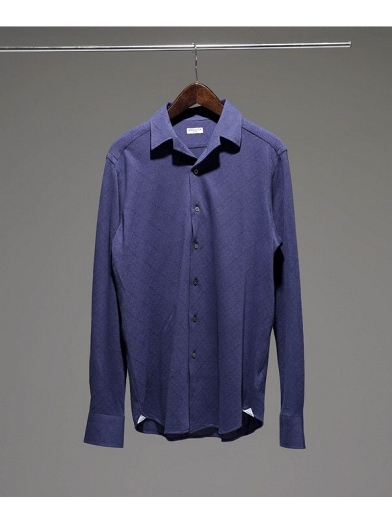 【SALE/10%OFF】Bagutta オープンカラージャージジオメトリックシャツ ナノユニバース シャツ/ブラウス【RBA_S】【RBA_E】【送料無料】