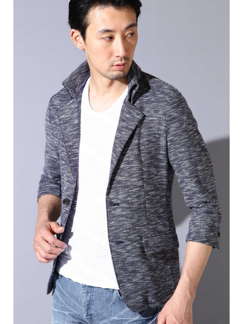TORNADO MART TORNADO MART∴スラブインレー返し衿カットジャケット トルネードマート カットソー【送料無料】
