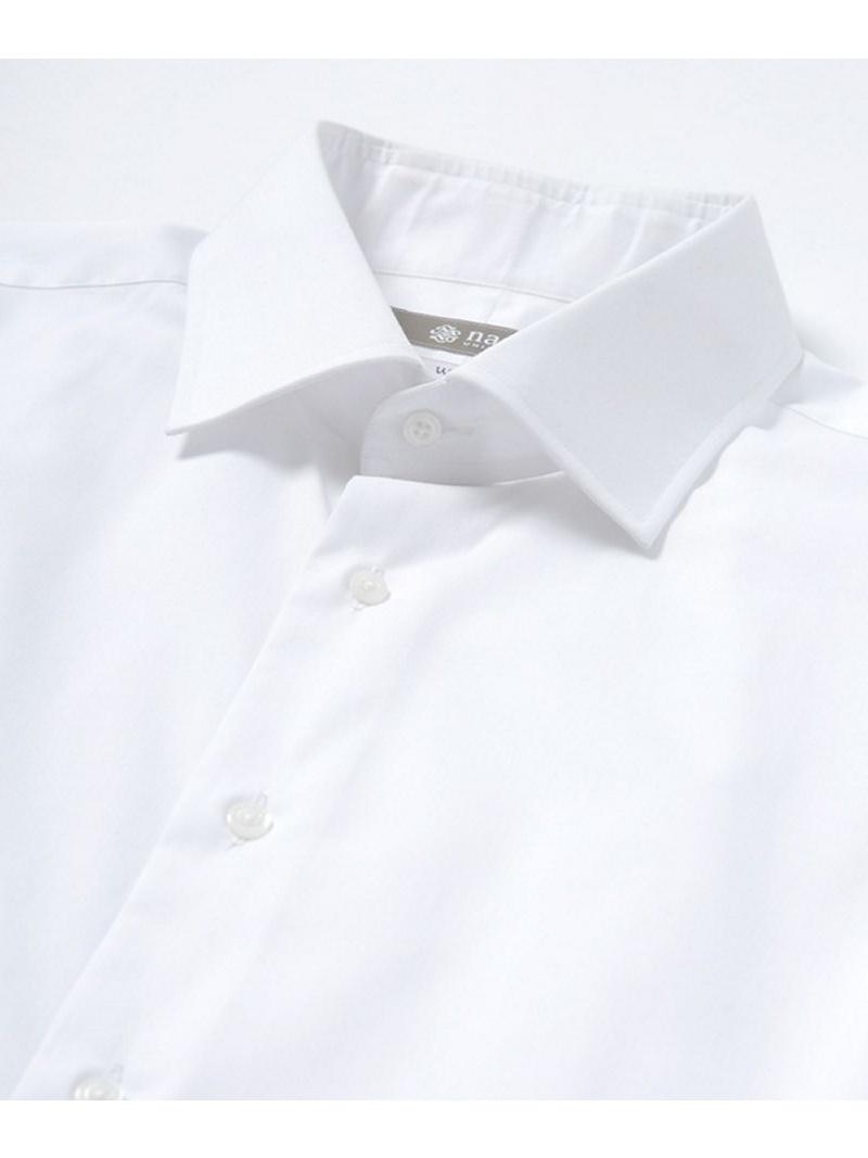 RG ブロードセミワイドシャツ ナノユニバース シャツ/ブラウス【送料無料】